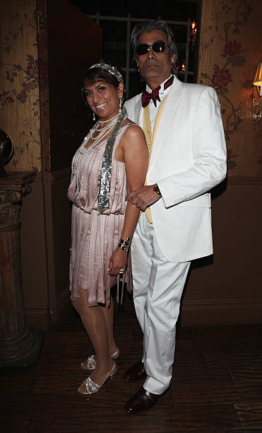 Rekha Choraria and Kamal Choraria attend the eStylistacom Launch Party at Beach Blanket Babylon on June 8 2013 in London England