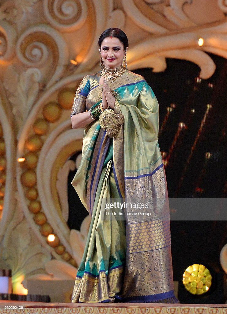 Rekha during Sansui Colors Stardust Awards 2016 in Mumbai