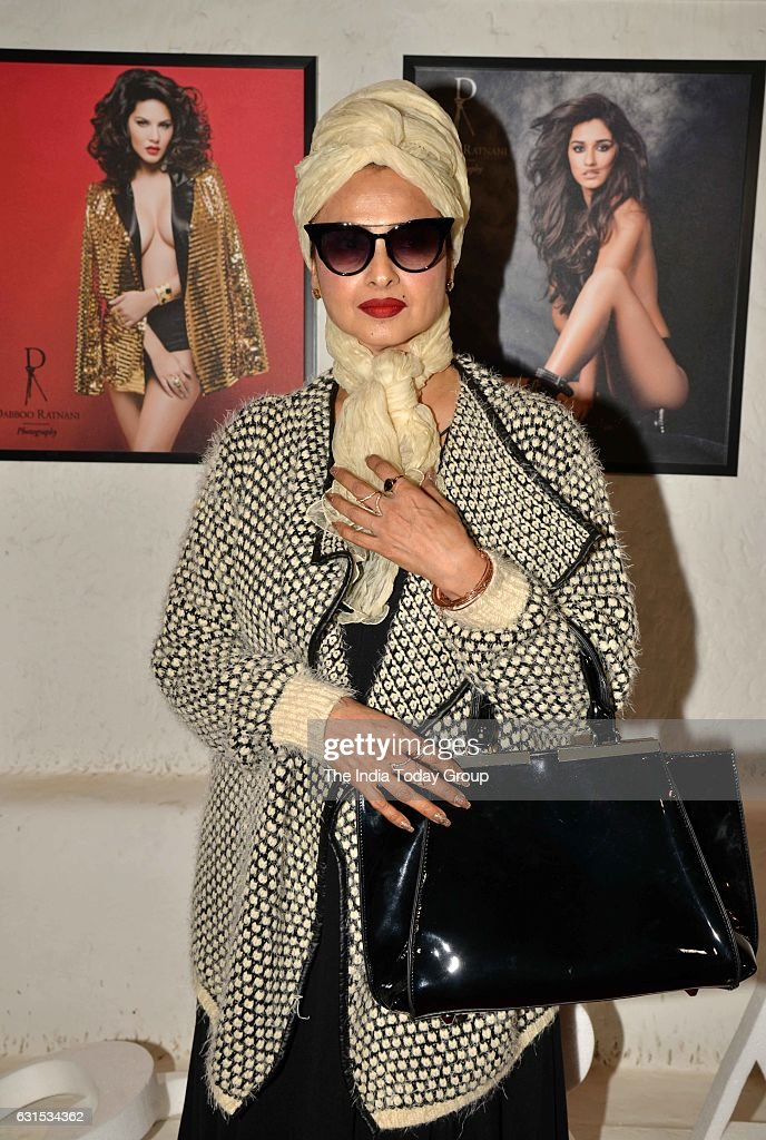Rekha during the launch of Fashion Photographer Dabboo Ratnanis 2017 calendar in Mumbai