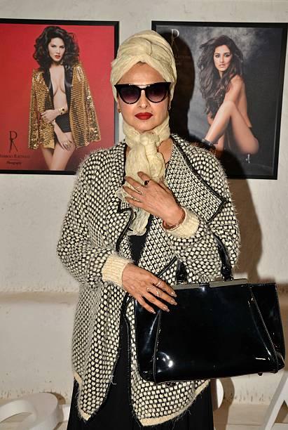 Rekha during the launch of Fashion Photographer Dabboo Ratnanis 2017 calendar in Mumbai