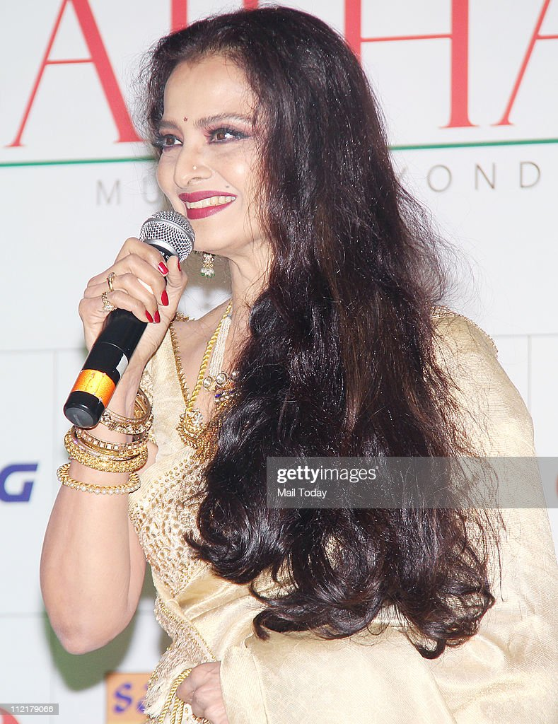 Rekha during the music launch of album `Sarhadein` by Sa Re Ga Ma and Radio City at Taj Lands End Mumbai