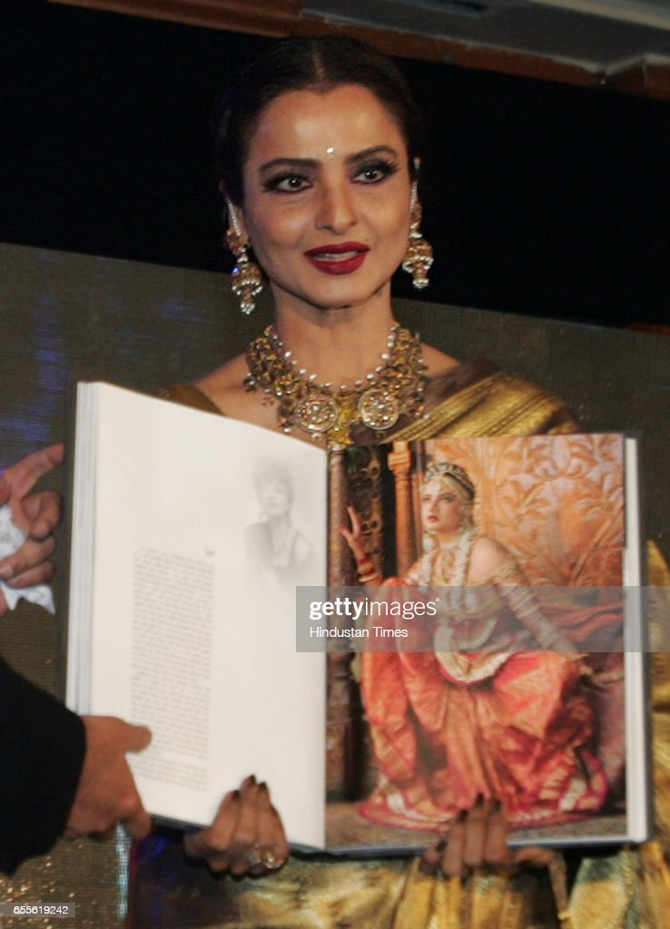 Rekha Launch of the Gautam Rajadhyaksha `s Book Chehre at JW Marriott at Juhu