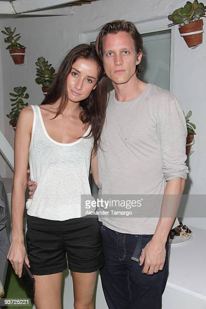 Rekha Luther and Magnus Berger attend the AnOther Magazine's Art Editions launch during Miami Art Basel at the Delano Hotel on December 2 2009 in...