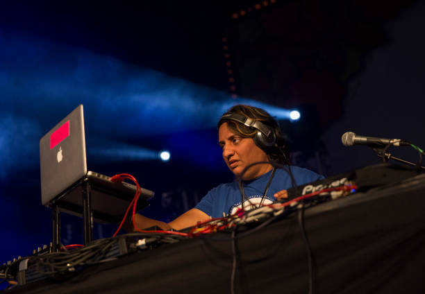 Rekha performs at the London Mela 2017 at Gunnersbury Park on September 3 2017 in London England