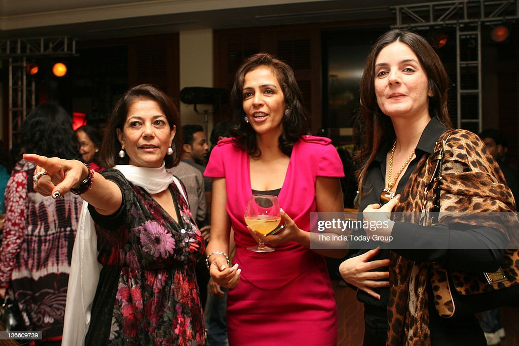 Rekha Purie interacts with guests during the launch of Kalli Purie`s book Confessions of a Serial Dieter in Mumbai on Saturday January 7 2012