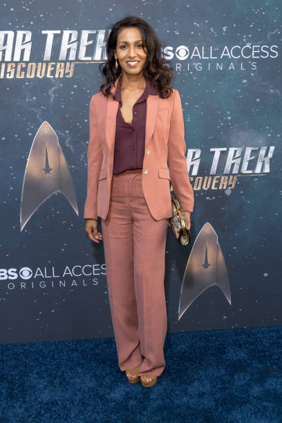 Rekha Sharma arrives for the Premiere Of CBS`s `Star Trek Discovery` at The Cinerama Dome on September 19 2017 in Los Angeles California