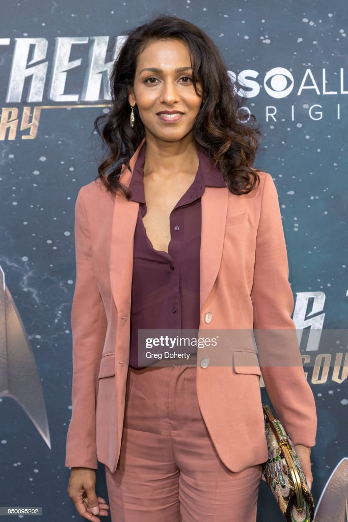 Rekha Sharma arrives for the Premiere Of CBS's 'Star Trek: Discovery' at The Cinerama Dome on September 19, 2017 in Los Angeles, California.