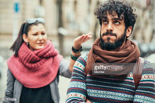 relationship difficulties - couple arguing stock photos and pictures