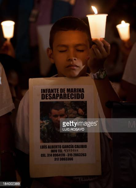 A relative of Colombian marine Luis Alberto Garcia Calibio missing since September 30 2011 according to his family kidnapped by members of the...