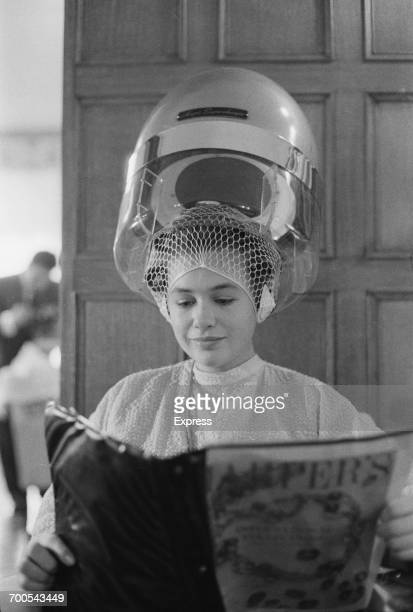 A relative of Sir Bernard WaleyCohen the new Lord Mayor of London during a visit to the hairdresser London November 1960