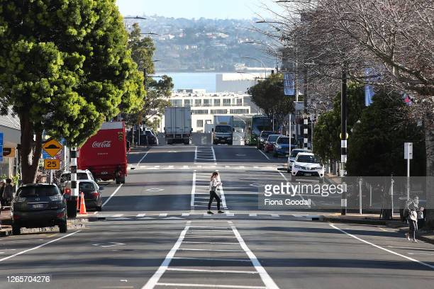A relatively deserted Parnell Rise as Aucklanders return to level three lockdown on August 13 2020 in Auckland New Zealand COVID19 restrictions have...