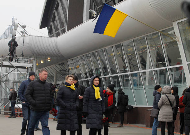 UKR: Ceremony Honoring The Memory Of Victims In The Crash Of The Flight 752