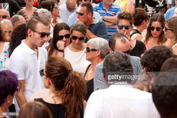 Relatives and friends attend the funeral of bullfighter Ivan Fandino on June 19 2017 in Orduna Spain