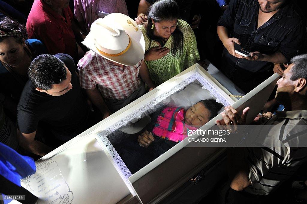 HONDURAS-CACERES-MURDER : News Photo