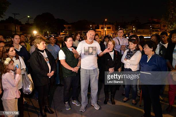 "Relatives and friends make honor to victims of flight JJ3054 at the ""Memorial 17 de Julho"" in São Paulo Brazil, where the aircraft of TAM crashed and..."