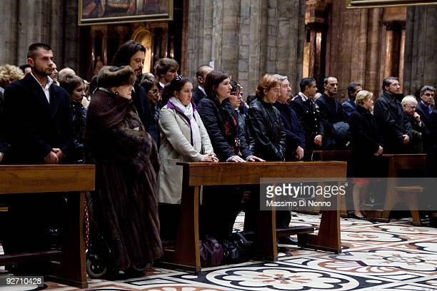 Relatives and friends of Alda Merini attend her funeral service at the Milan Cathedral on November 4 2009 in Milan Italy Poet Alda Merini who was...