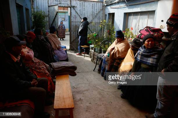 Relatives and friends of Rudy Cristian Vásquez who was killed during clashes with police at the Senkata fuel plant attend his funeral ceremony on...