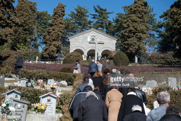 Relatives and friends of the Agnelli family during the funeral of Marella Agnelli Caracciolo of Castagneto at the Church of San Pietro in Vincoli...