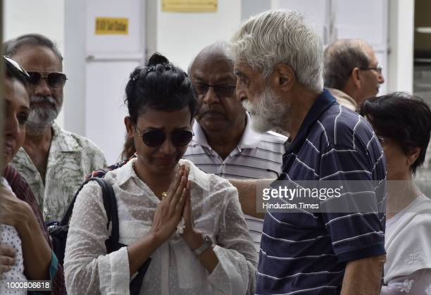 Relatives and friends offer condolences to the parents of Anissia Batra who fell to her death from the terrace of her home in south Delhis Panchsheel...