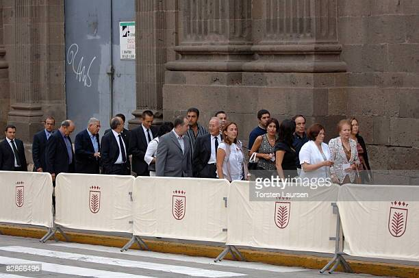 Relatives attend a memorial service for the victims of the crash of Spanair flight JK 5022 September 17 2008 at the cathedral of St Ana in Las Palmas...