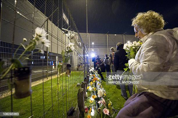 Relatives, friends and survivors attend a remembrance ceremony in Schiphol on October 26, 2010 to pay tribute to victims who died on October 26, 2005...