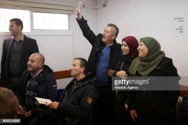 Relatives of 16yearold Palestinian Ahed alTamimi who was awarded the 'Hanzala Award for Courage' in Turkey are seen as Ahed alTamimi appears in court...