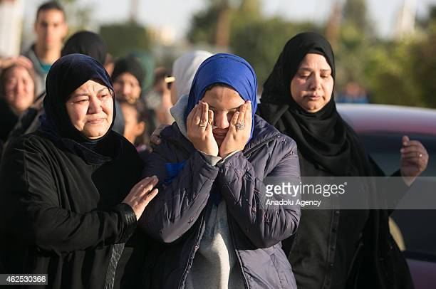Relatives of a protester who killed on Friday during an antiregime demonstration held in the village of Aris in northern Egypt's Sinai peninsula...