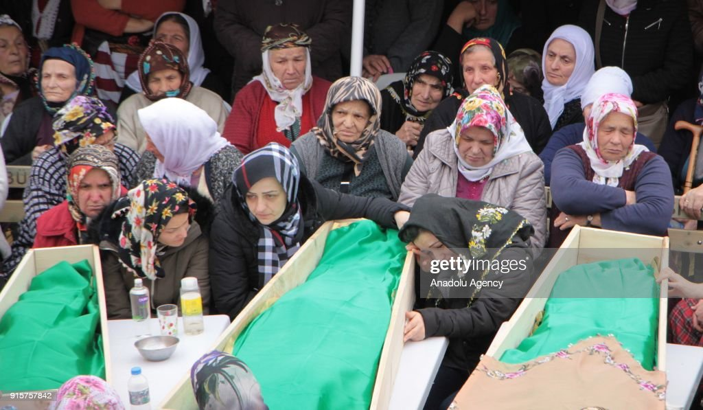 Funeral ceremony of Turkish family found dead in Germany : News Photo