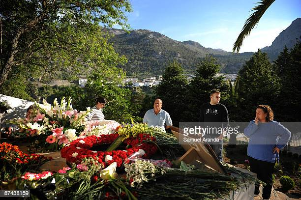 Relatives of civil war victims attend the funeral for those killed and buried in a mass grave during the Civil War on May 16 2009 in Grazalema Spain...