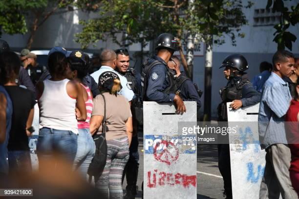 VALENCIA CARABOBO VENEZUELA Relatives of detainees in the police headquarters of Carabobo in the city of Valencia in Carabobo state remain outside...