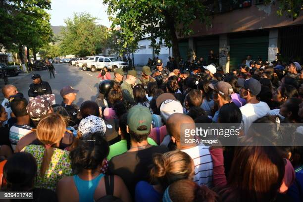 VALENCIA CARABOBO VENEZUELA Relatives of detainees in the police headquarters of Carabobo in the city of Valencia in Carabobo state remain outside...