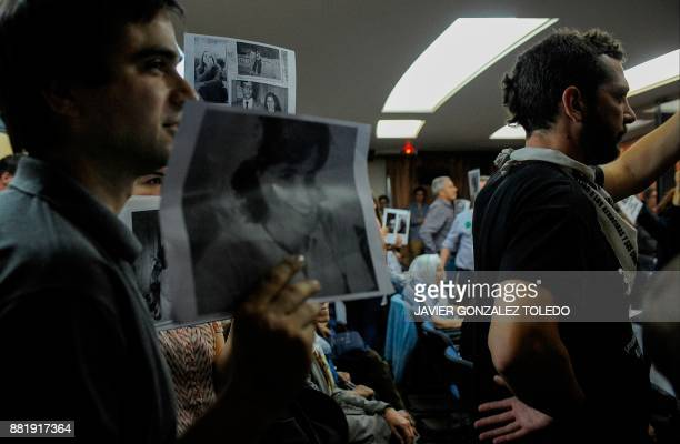 Relatives of disappeared during the last Argentine military dictatorship listen to the sentencing hearing for crimes against humanity committed in...