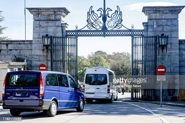 Relatives of Francisco Franco arrive at the Valle de los Caidos ahead of the Spanish dictator's exhumation on October 24 2019 Spain's fascist...