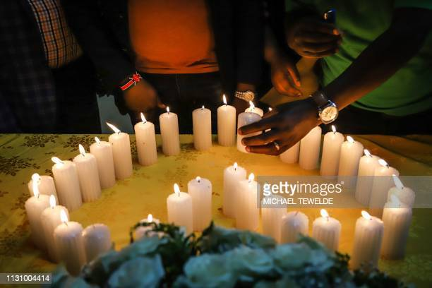 Relatives of Kenyan victims who perished among the 157 passengers and crew onboard the Ethiopian Airlines operated Boeing 737 MAX 8 aircraft light...