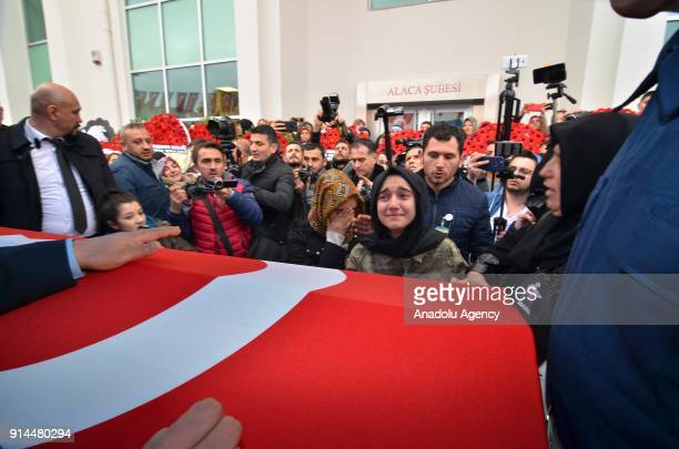 Relatives of martyred specialist corporal Halil Ibrahim Aygul who was martyred after the terrorist group targeted a Turkish army tank during the...