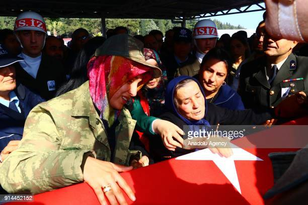 Relatives of martyred specialized sergeant Bekir Evren who was martyred during an operation against PYD/PKK terror group within the 'Operation Olive...
