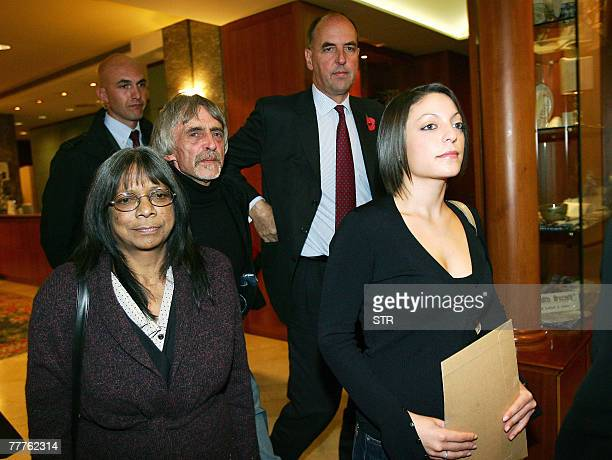 Relatives of murdered British exchange student Meredith Kercher Stephanie Kercher Arline Kercher and father John Kercher arrive for a press...