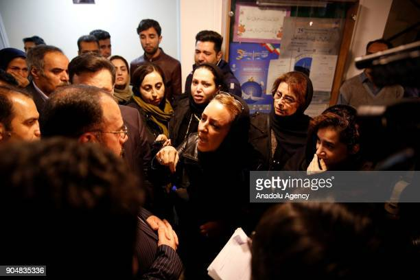 Relatives of Panamanianflagged Iranian owned oil tanker Sanchi's crewmen who were aboard Sanchi as it collided with the Hong Kongflagged cargo ship...