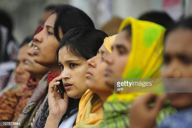 Relatives of the Bangladesh Rifles soldiers wait outside the special court in Dhaka on January 5 2011 Some 800 Bangladeshi soldiers appeared in a...