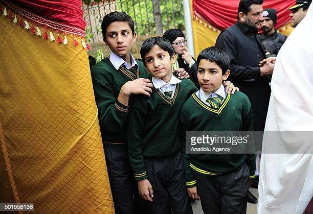 Relatives of the schoolchildren participate the memorial day for the victims of Taliban's deadliest attack at an Army Public School in Rawalpindi...