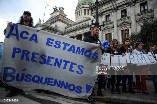 Relatives of the submatine ARA San Juan's crew members march to the Congress in Buenos Aires Argentina August 15 nine months after it went missing...