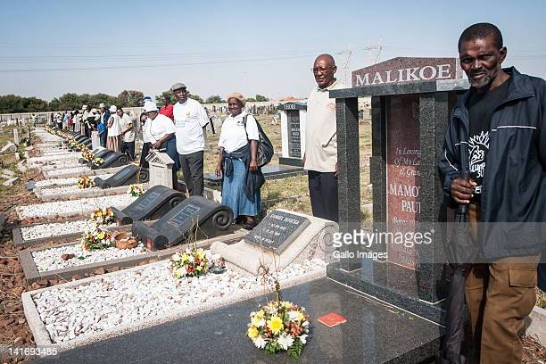 Relatives of the victims of the 1960 Sharpeville Massacre gathered in Sharpeville in Johannesburg South Africa to celebrate Human Rights Day after...