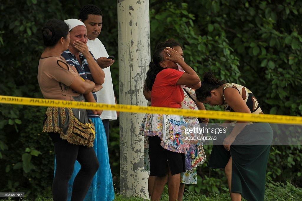 EL SALVADOR-CRIME-VIOLENCE-ATTACK-GANGS : News Photo