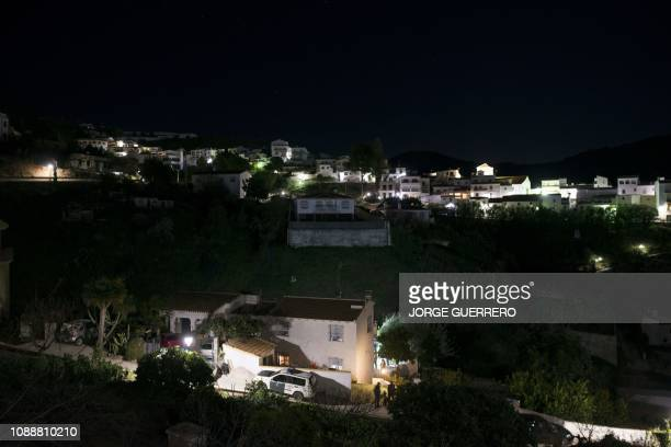 Relatives of twoyearold Julen Rosello whose body was just found are seen gathering at a house in Totalan southern Spain on January 26 2019 Spanish...