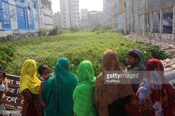Relatives of victims of the Rana Plaza building collapse seen as they mark sixth anniversary of the garment factory disaster at the site where the...