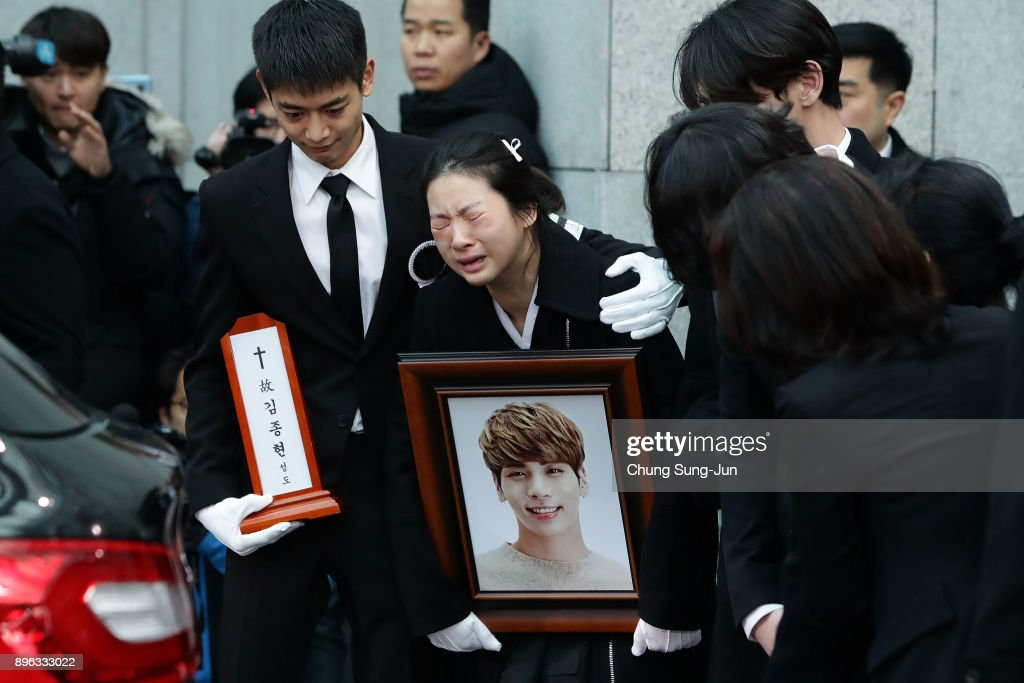 Funeral For K Pop Star Jonghyun of SHINee Takes Place In Seoul