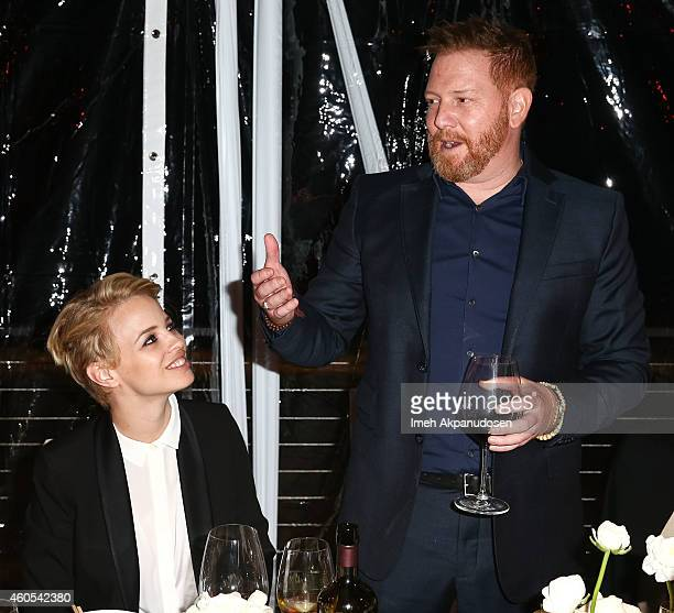 Relativity CEO Ryan Kavanaugh and model Jessica Roffey attend a dinner hosted by Haute Living and Dom Perignon honoring Relativity CEO Ryan Kavanaugh...