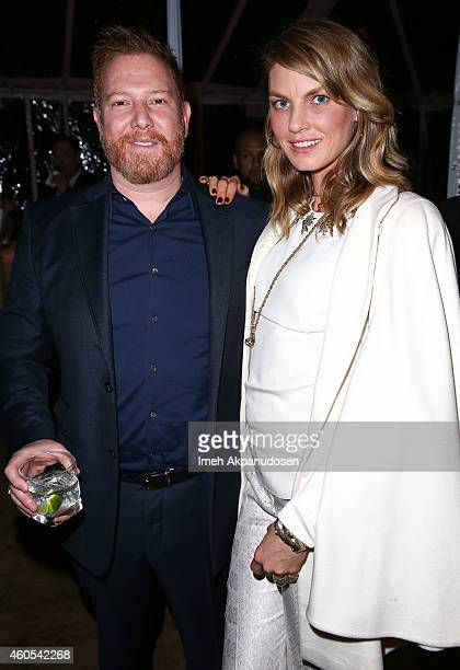 Relativity CEO Ryan Kavanaugh and model/actress Angela Lindvall attend a dinner hosted by Haute Living and Dom Perignon honoring Relativity CEO Ryan...