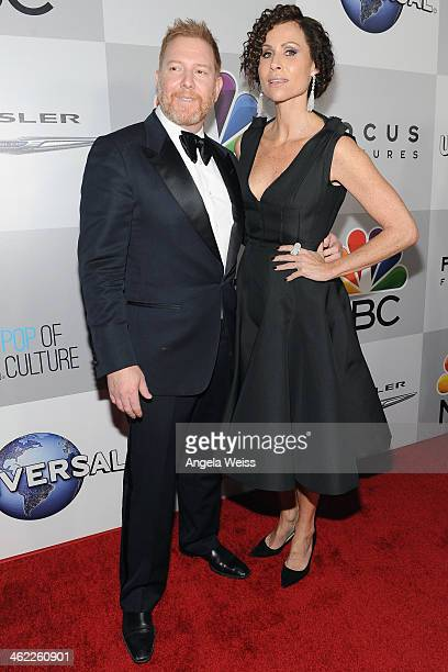 Relativity Media CEO Ryan Kavanaugh and actress Minnie Driver attend the Universal NBC Focus Features E sponsored by Chrysler viewing and after party...