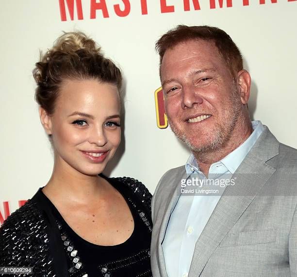Relativity Media CEO Ryan Kavanaugh and wife Jessica Roffey attend the premiere of Relativity Media's Masterminds at TCL Chinese Theatre on September...